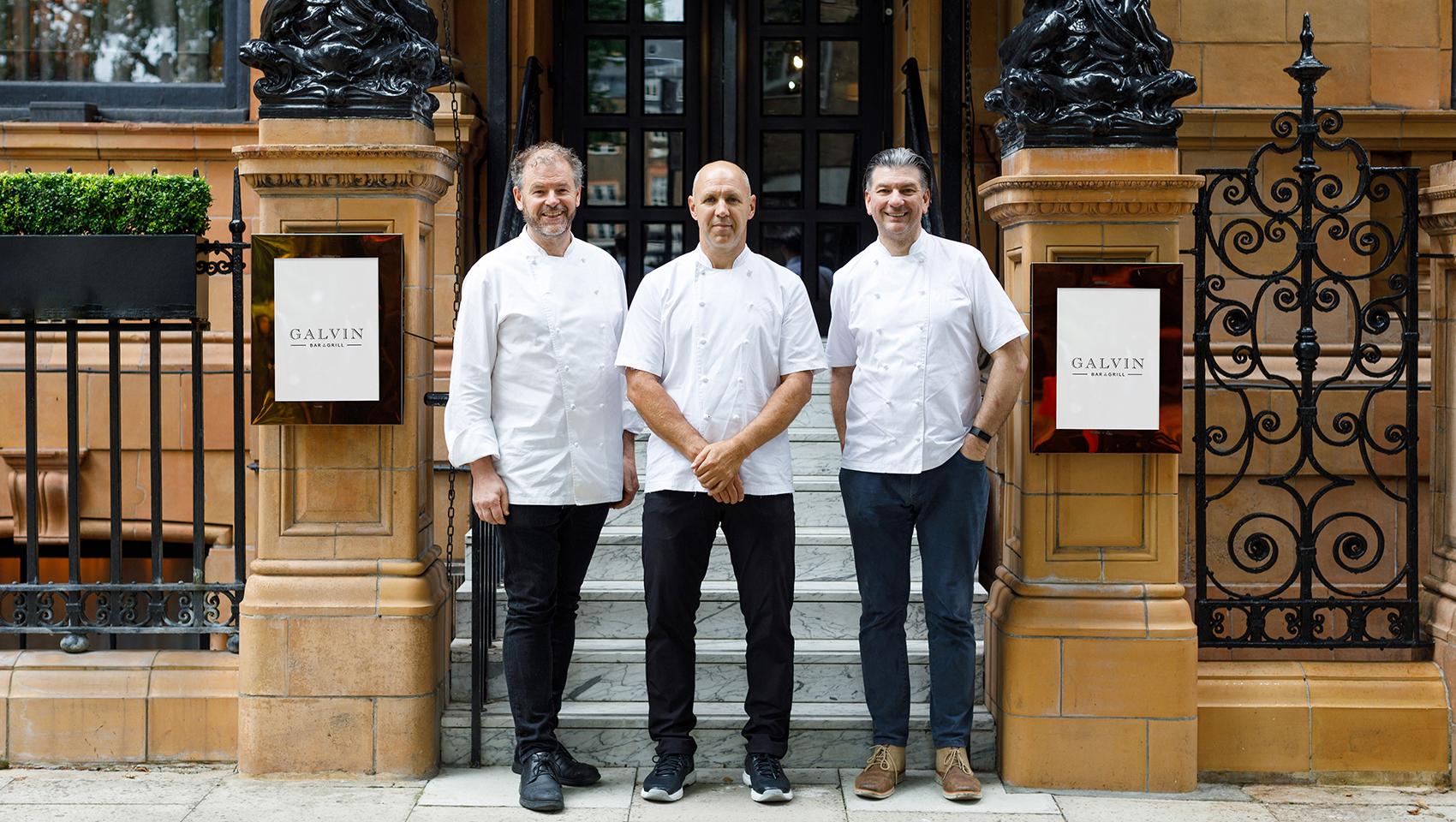 Chris Galvin, Jeff Galvin & Head Chef Adam Gray